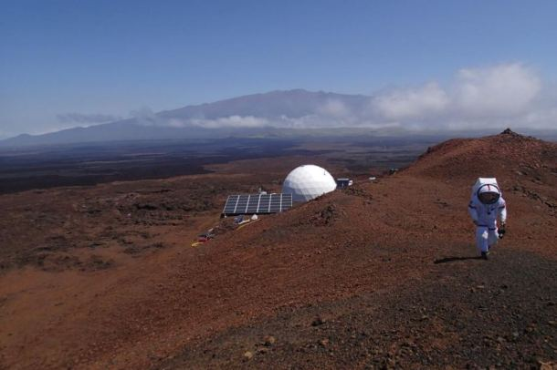 The HI-SEAS dome on the slopes of Mauna Loa volcano. (Image: HI-SEAS).